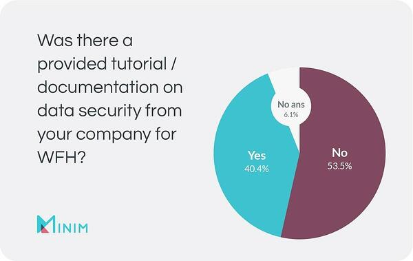 CHart: Was there a provided tutorial / documentation on data security from your company for WFH?