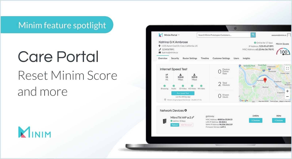Minim Care Portal feature highlights