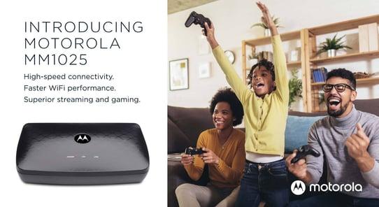 True Gigabit internet speeds for all: Introducing the Motorola MM1025 2.5 Gbps MoCA Adapter