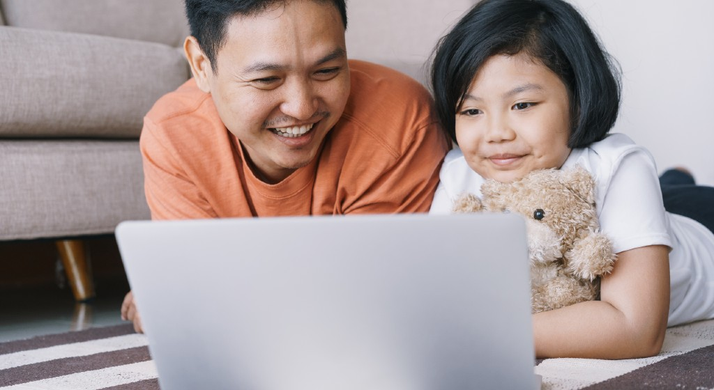 Child internet safety with parental controls