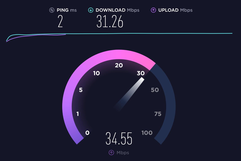How do I interpret my WiFi speed test results?