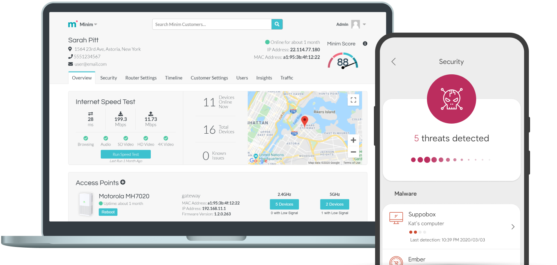 Minim Care Portal and Mobile app
